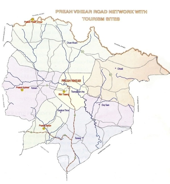 Map of Preah Vihear